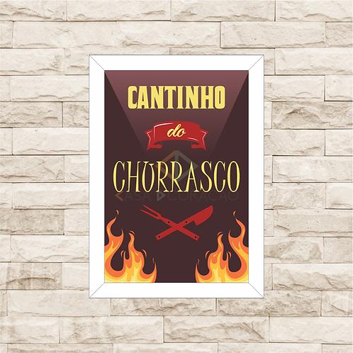 6060 - Quadro com moldura Cantinho do Churrasco