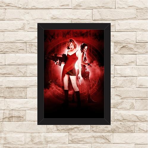 1609 - Quadro com moldura Resident Evil