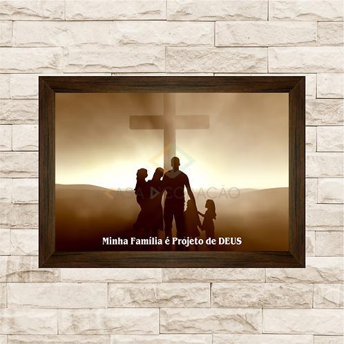 6208 - Quadro com moldura Projeto de Deus