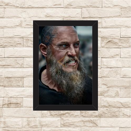 1305 - Quadro com moldura Vikings - Ragnar Lothbrok
