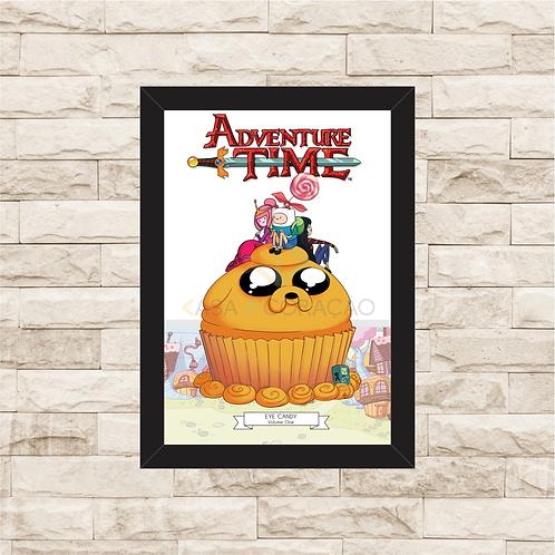 1095 - Quadro com moldura Adventure Time