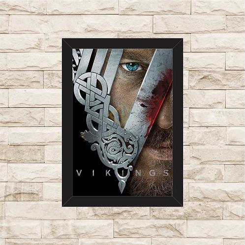 1009 - Quadro com moldura Vikings