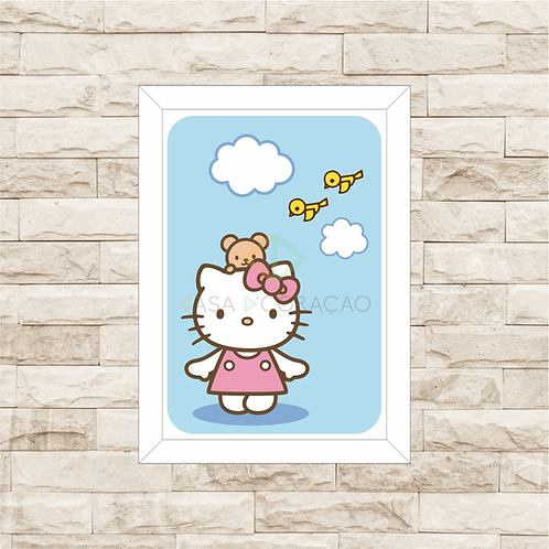 4075 - Quadro com moldura Hello Kitty