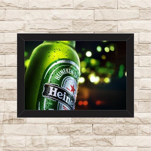 7011 - Quadro com moldura Heineken