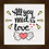 Thumbnail: 6080 - Quadro com moldura All You Need is Love