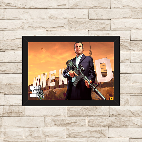 1025 - Quadro com moldura Grand Theft Auto - GTA