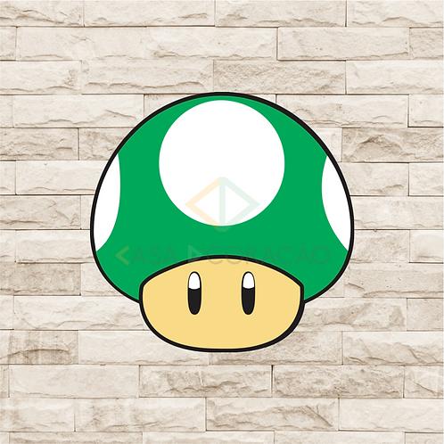 30027 - Placa Decorativa - Cogumelo de Vida - Mario
