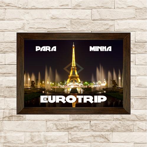015 - Quadro para guardar dinheiro - Para Minha Eurotrip