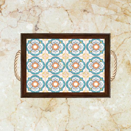 10002 - Bandeja Decorativa - Azulejos