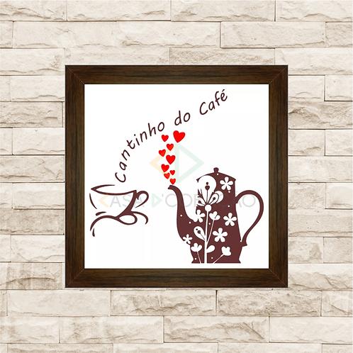 6184 - Quadro com moldura Cheirinho de Café