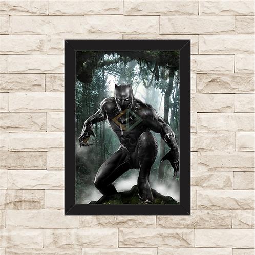 1185 - Quadro Decorativo Pantera Negra