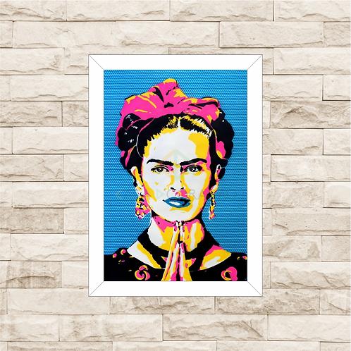 6105 - Quadro com moldura Frida Kahlo