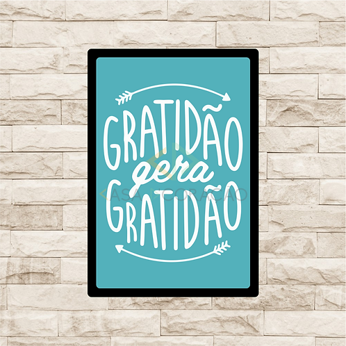 30056 - Placa Decorativa - Gratidão gera Gratidão
