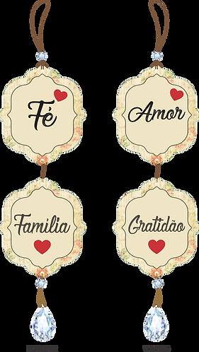 50010 - Móbile Fé, Amor, Família e Gratidão