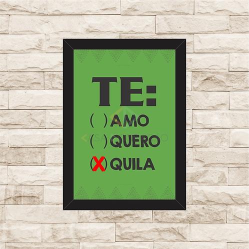 6283 - Quadro com moldura TEquila