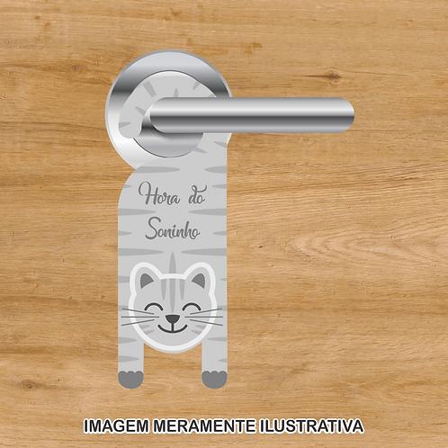 20035 - Aviso de porta Hora do Soninho - Gatinho