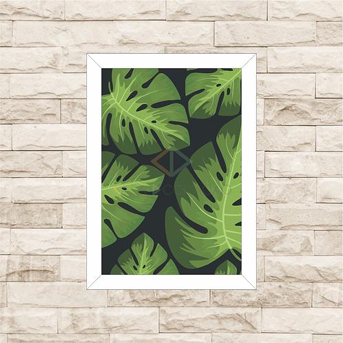 6035 - Quadro com moldura Folhas