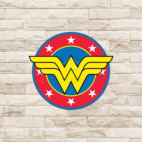 30020 - Placa Decorativa - Escudo Mulher Maravilha