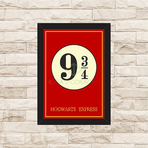 1041 - Quadro com moldura Harry Potter - 9 3/4
