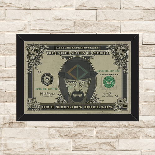 1223 - Quadro com moldura Breaking Bad - Dólar