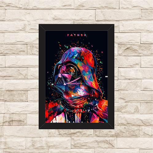 1066 - Quadro com moldura Star Wars - Darth Vader