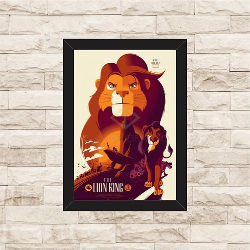 1309 - Quadro com moldura O Rei Leão