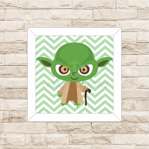 4125 - Quadro com moldura Yoda Baby