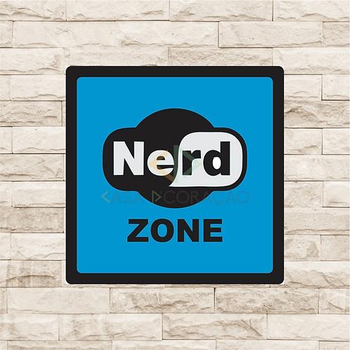 30006 - Placa Decorativa - Nerd Zone