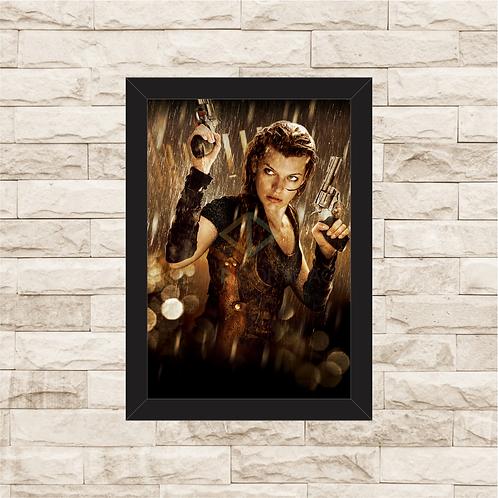 1613 - Quadro com moldura Resident Evil 4 - Recomeço