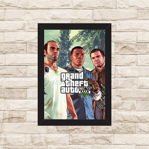 1733 - Quadro com moldura Grand Theft Auto - GTA