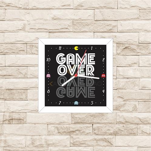 9011 - Relógio com moldura Game Over - Pacman