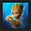 Thumbnail: 1751 - Quadro com moldura Vingadores - Baby Groot - Punho de Thanos