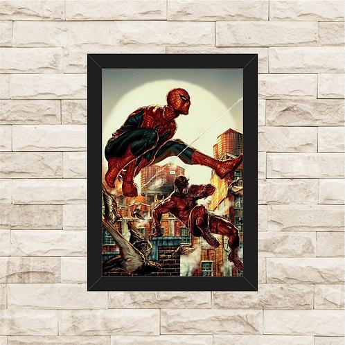 1293 - Quadro com moldura Homem Aranha e Demolidor