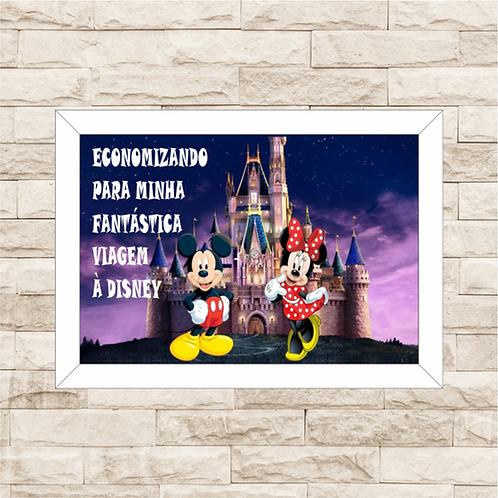 041 - Quadro para guardar dinheiro - Para Minha Fantástica Viagem à Disney