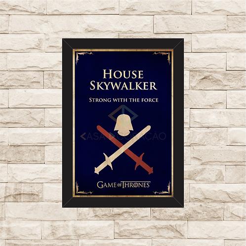 1093 - Quadro com moldura Star Wars - Game of Thrones - House Skywalker
