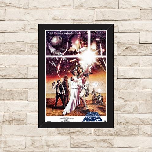 1301 - Quadro com moldura Star Wars