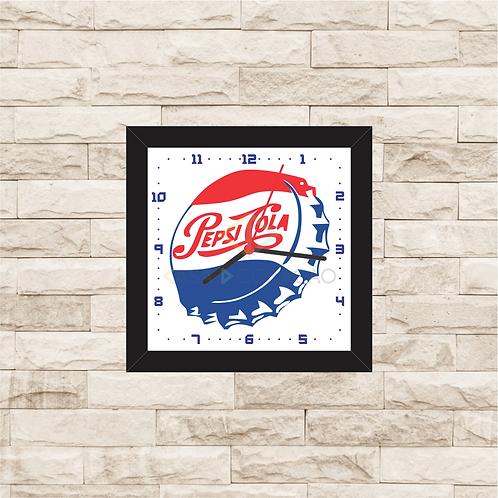 9053 - Relógio com moldura Pepsi