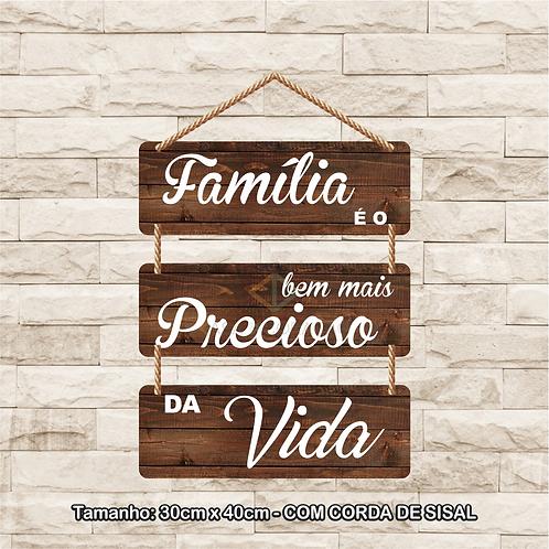 30095 - Placa Decorativa - Família