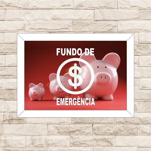 012 - Quadro para guardar dinheiro - Fundo de Emergência