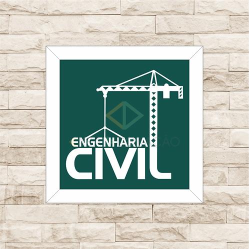 6226 - Quadro com moldura Engenharia Civil