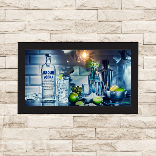 7004 - Quadro com moldura Absolut Vodka