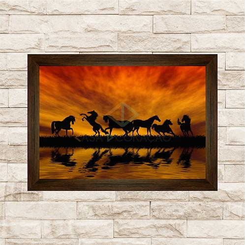 6215 - Quadro com moldura Cavalos