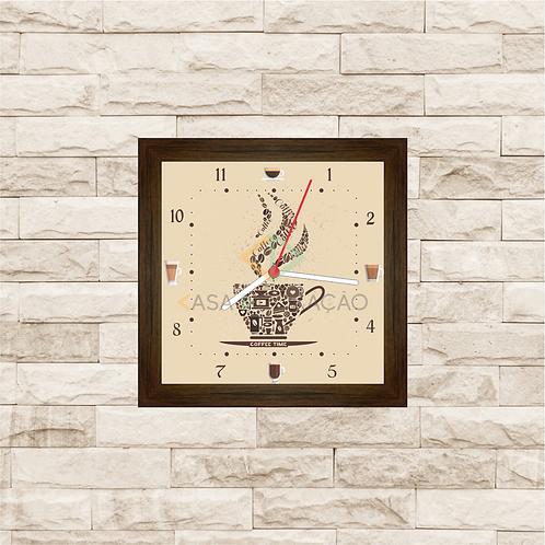 9008 - Relógio com moldura Hora do Café