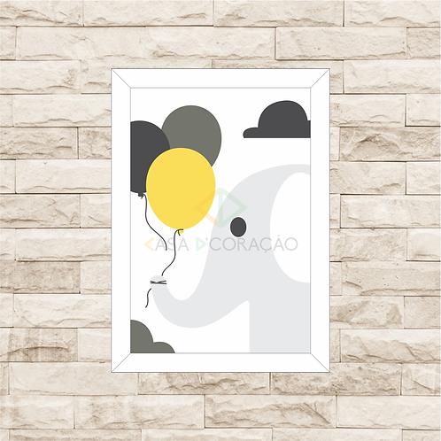 4016 - Quadro com moldura Elefante