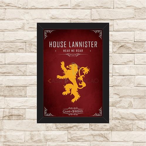 1144 - Quadro com moldura Game of Thrones - House Lannister