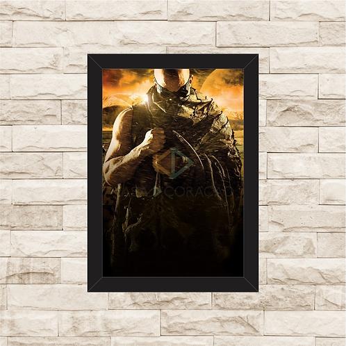 1498 - Quadro com moldura A Batalha de Riddick