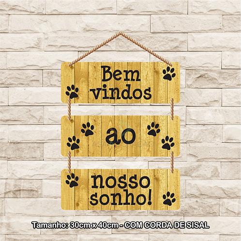 30093 - Placa Decorativa - Bem Vindos ao Nosso Sonho