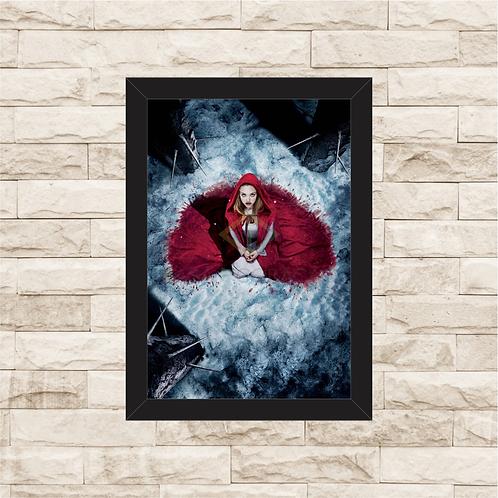 1608 - Quadro com moldura A Garota da Capa Vermelha