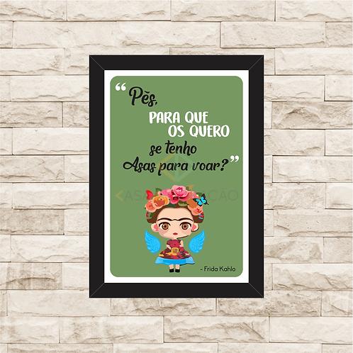6108 - Quadro com moldura Frida Kahlo