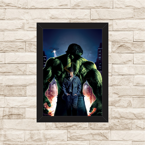 1371 - Quadro com moldura O Incrível Hulk